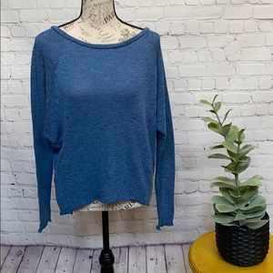 Topshop batwing sleeve rough unhemmed trim sweater